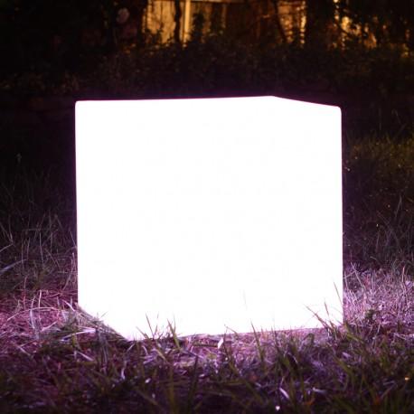 Stolik - taboret - lampa 6-9W led - sześcian 40cm