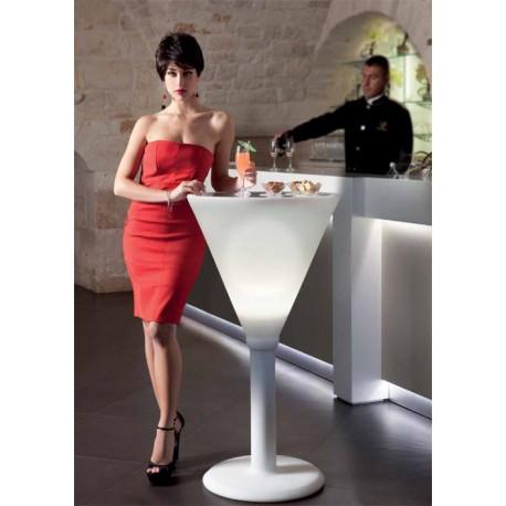 Podświetlany stolik barowy w kształcie kieliszka do Margarity