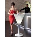 Podświetlany stolik barowy MARGARITA w kształcie kieliszka do Margarity