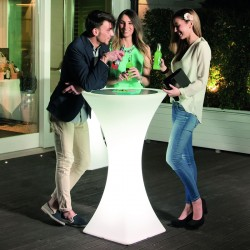 Podświetlany LED stolik barowy BRASILIANA, MADE IN ITALY