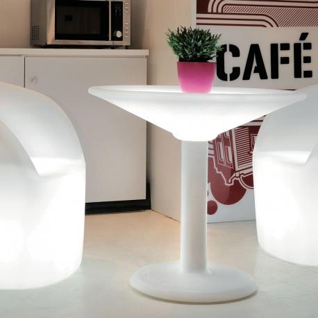 Podświetlany LED stolik barowy ANTIKA, MADE IN ITALY