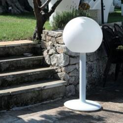 Lampa kula 40cm na podstawie, podświetlana LED 6W do dekoracji ogrodu