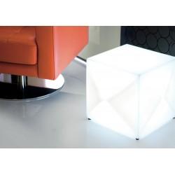 Stolik, taboret, lampa LED 5W- 30 cm sześcian