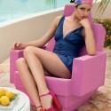 Fotel bujany z tworzywa odporny na pogodę i UV