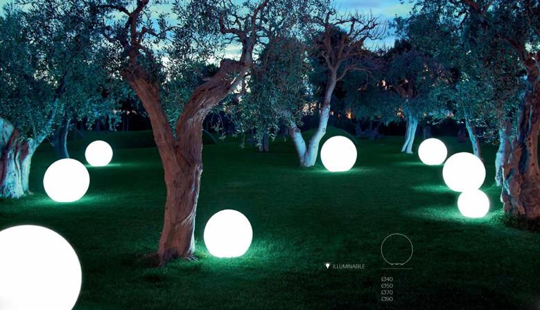 Oświetlenie ogrodowe kule 90cm 70cm 50cm 40cm z ledami